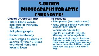 S Consonant Clusters: Articulation Photographs for Speech