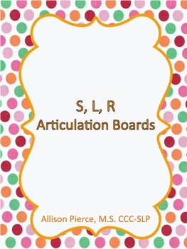 S, L, R Articulation Picture Boards