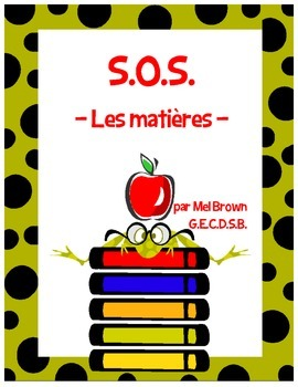 S.O.S. - Les matières (school subjects)
