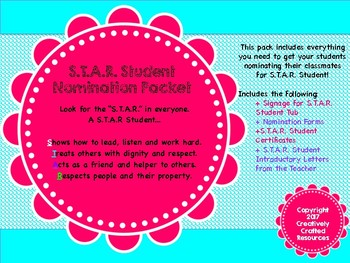 S.T.A.R. Student Classroom Packet