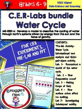 Water Cycle-CER- Labs bundle- MS-ESS2-4