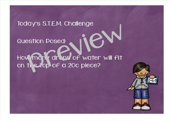 S.T.E.M. Lesson 1 - Coins, water and surface tension!