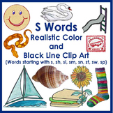 S Word Realistic Clip Art