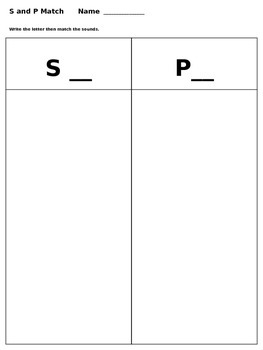 S and P Match
