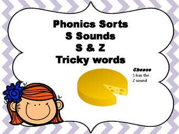 S and Z Word Sort ,,,Phonics Practice and Literacy Center