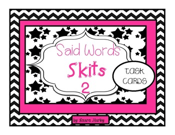 Vocabulary Task Cards: Said Words Dialogue Tags Set 2