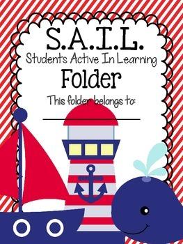 S.A.I.L. Folder {Students Active In Learning}  Folder/Binder