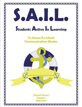 SAIL Student Binder Cover [Editable]