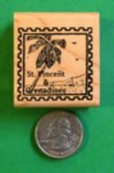 SAINT VINCENT and GRENADINES Country/Passport Rubber Stamp