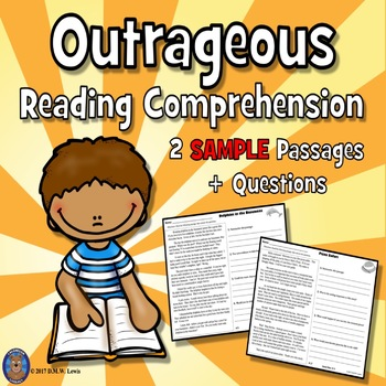 SAMPLE 2 Fun Reading Comprehension Passages: Close Reading