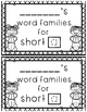 SAMPLE FREEBIE! Short -a Word Families Mini Book {-ant}