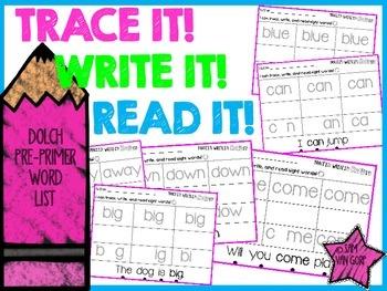 Trace It! Write It! Read It! Sight Word Intervention *Pre-