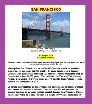 SAN FRANCISCO (SOCIAL STUDIES, CCSS, ESL / ELL / SPANISH)