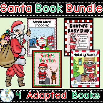 SANTA ADAPTED BOOK BUNDLE-4 DECEMBER HOLIDAY INTERACTIVE B