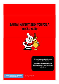 SANTA I HAVEN'T SEEN YOU FOR A WHOLE YEAR ORIGINAL POEM