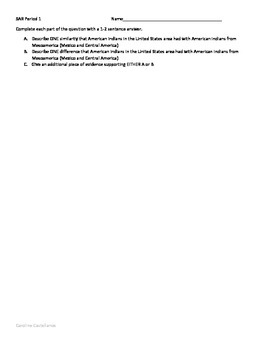 SAR question for Period 1 APUSH