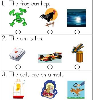 SAT 10 Kindergarten Sentence Reading