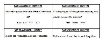 SAT 10 Math Scavenger Hunt 1st grade (GREAT REVIEW!)