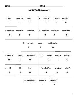 SAT 10 Practice 7