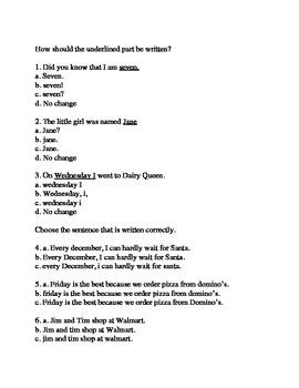 SAT 10 Punctuation Practice