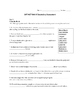 SAT ACT Unit 8 Spelling/Vocabulary Activities & Assessments