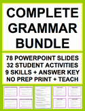 GRAMMAR TEST PREP COMPLETE SAT GUIDE & KEY (30 activities)