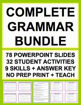 GRAMMAR TEST PREP COMPLETE SAT GUIDE & KEY (30 activities)