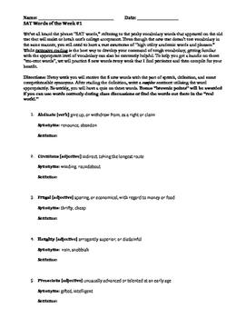 2016 SAT: Vocabulary in Context Bundle--Words, Quizzes, Te