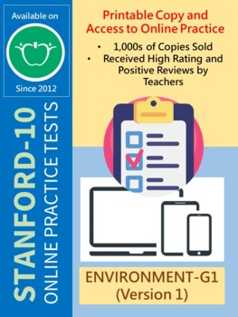 SAT Practice Test in Environment for First Grade (Version 1)