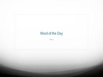 SAT Prep Vocabulary study