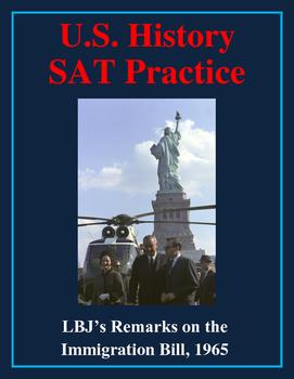 SAT Reading Practice – Lyndon Johnson's Remarks on the Imm