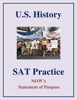 SAT Reading Practice – NOW Statement of Purpose