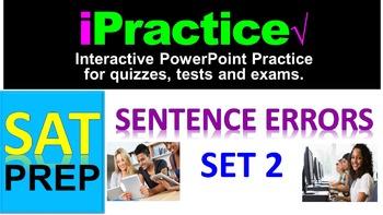 SAT Sentence Errors (SET 2): iPractice -  Interactive PPT