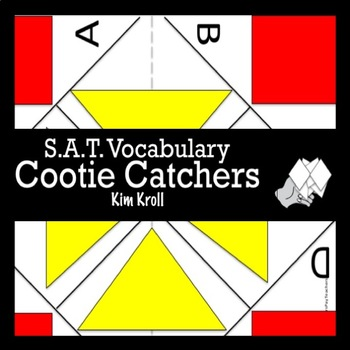 S.A.T. Vocabulary Cootie Catcher #3 (Fortune Teller)