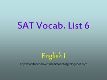 SAT Word Powerpoint