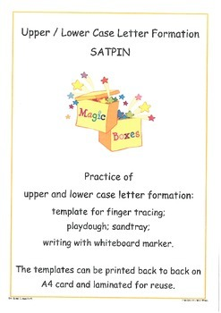 SATPIN Letter Formation Cards