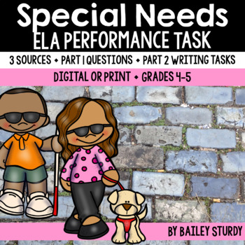 SBAC Performance Task - Diversity and Special Needs