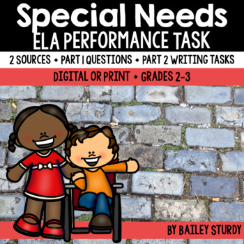 SBAC Performance Task - Special Needs *2 SOURCES ONLY*