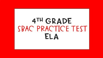 SBAC Practice Test