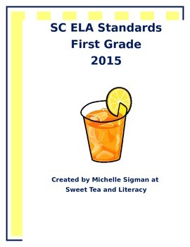 SC 2015-2016 ELA Standards: First Grade
