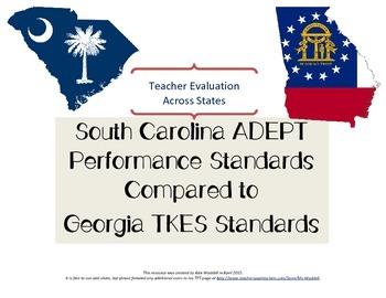 SC ADEPT and GA TKES Comparison FREEBIE
