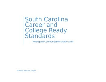 SC Career & College Ready Standards Display Cards- Writing