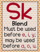 Word Work - S BLENDS - SC-SK Sorting Center {ABC Order, An