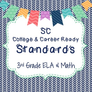 SC Standards 3rd Grade Full Page Posters