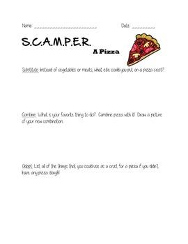 SCAMPER A Pizza
