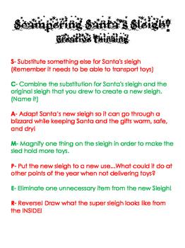 SCAMPER Santa's Sleigh (Exposistory Prompt)