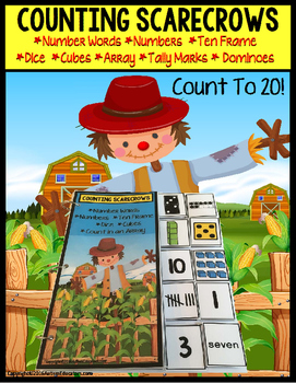 SCARECROWS Counting Up To 20 with Data and IEP Goals - Spe