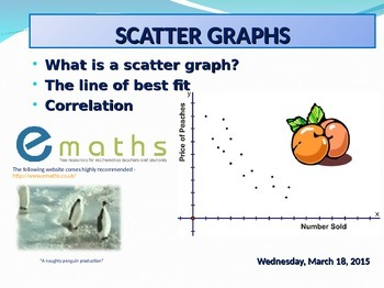 SCATTER GRAPHS - PLOTTING FROM A TABLE