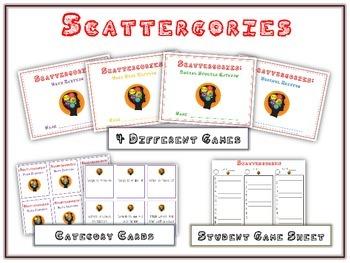 SCATTERGORIES - Fun Center Game - Word Work, Math, Science