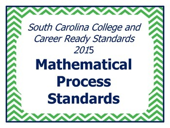 SCCCR Mathematics Process Standards Posters
